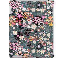 Pattern of multicolored flowers iPad Case/Skin