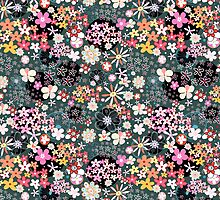 Pattern of multicolored flowers by Tanor