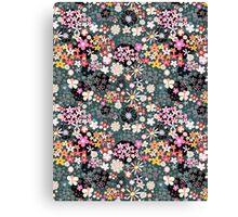 Pattern of multicolored flowers Canvas Print