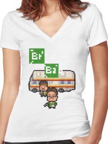 Pixels Breaking Bad Women's Fitted V-Neck T-Shirt