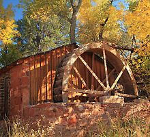 Old Water Wheel, Sedona Arizona by Roupen  Baker