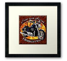 Triumph Thunderbird Fast and Fierce Framed Print