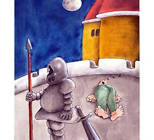 Get well soon cards - medieval palace gag cartoon by Sagar Shirguppi
