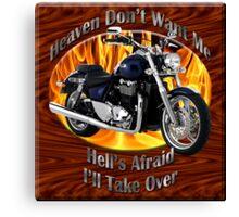 Triumph Thunderbird Heaven Don't Want Me Canvas Print