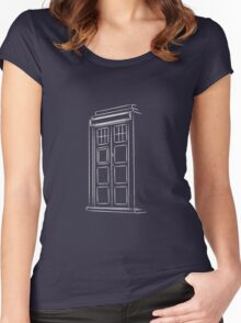 Jump on the TARDIS Women's Fitted Scoop T-Shirt