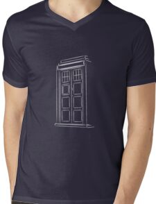 Jump on the TARDIS Mens V-Neck T-Shirt