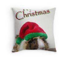 Merry Christmas Guinea Pig Throw Pillow