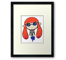 Chibi Inkling Girl (orange) Framed Print
