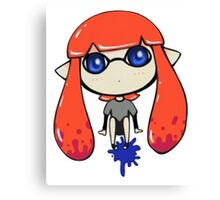 Chibi Inkling Girl (orange) Canvas Print