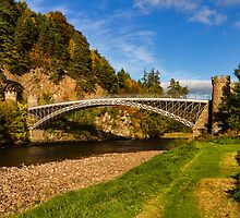 Craigellachie, Bridge in Autumn by JASPERIMAGE