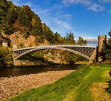 Craigellachie, Bridge in Autumn by JASPERIMAGE