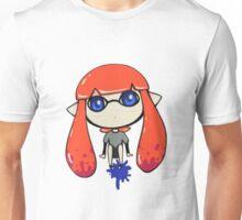 Chibi Inkling Girl (orange) Unisex T-Shirt