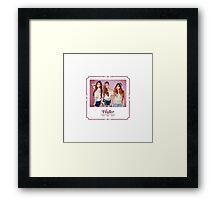 Girls' Generation TaeTiSeo 'Holler'  Framed Print