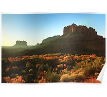 Morning sunlight on Sedona Arizona Poster