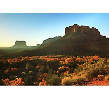 Morning sunlight on Sedona Arizona Photographic Print