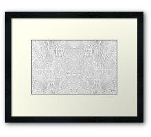 Blank Blocks Framed Print