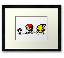 Poké-Bit Framed Print