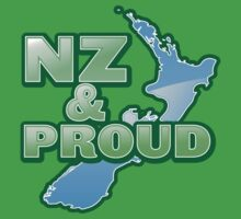 NZ and PROUD New Zealand map kiwi funny Baby Tee