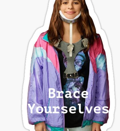 Scream Queens Neck Brace Sticker