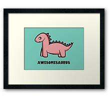 Awesomesaurus (pink) Framed Print