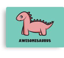 Awesomesaurus (pink) Canvas Print