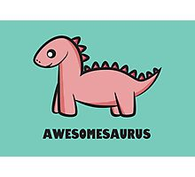 Awesomesaurus (pink) Photographic Print