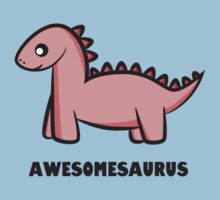Awesomesaurus (pink) Kids Clothes