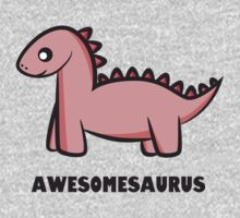 Awesomesaurus (pink) One Piece - Long Sleeve