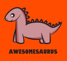 Awesomesaurus (pink) Kids Tee