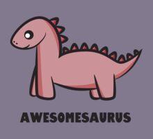 Awesomesaurus (pink) Kids Tee