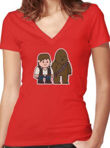 Mitesized Han & Chewwy Women's Fitted V-Neck T-Shirt