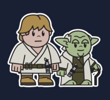 Mitesized Luke & Yoda One Piece - Short Sleeve