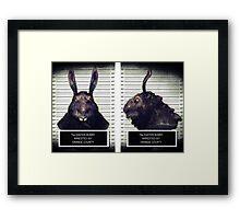 Evil Easter Bunny Rabbit Framed Print