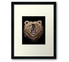 Pixel Bear Framed Print