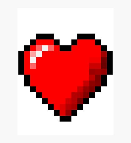 8-Bit Pixel Heart Photographic Print