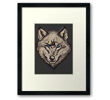 Pixel Wolf II Framed Print
