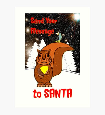 A Message for Santa Christmas card Art Print