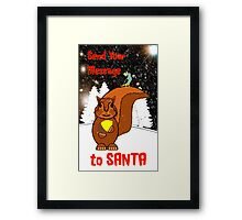 A Message for Santa Christmas card Framed Print
