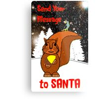 A Message for Santa Christmas card Metal Print