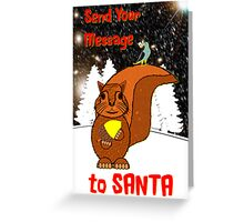 A Message for Santa Christmas card Greeting Card