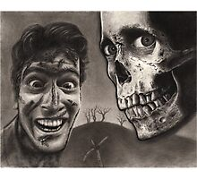 Evil Dead 2 - Bloody Ash with Skull Horror Art Photographic Print