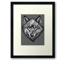 Pixel Wolf I Framed Print