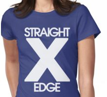 Straightedge (white) Womens Fitted T-Shirt