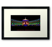 Christmas Time - Denver Civic Center Framed Print