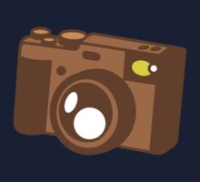 Old school vintage camera with lens One Piece - Short Sleeve