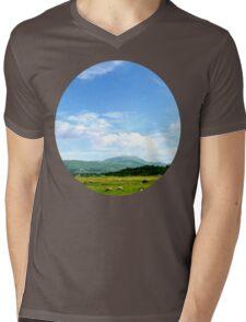 Highlands Scotland Mens V-Neck T-Shirt