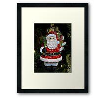 Christmas Tree Ornament - Santa Framed Print