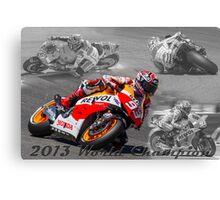 Marc Marquez 2013 World Champion Canvas Print