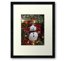 Christmas Tree Ornament - Snowman Framed Print