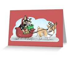 Christmas Corgis: Red Greeting Card
